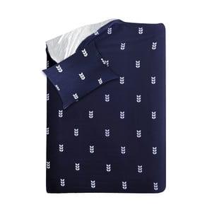 Modré obliečky Hawke & Thorn Finch Straw, 150 x 200 cm + vankúš 50 x 60 cm