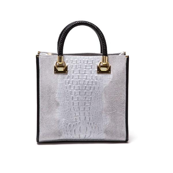 Kožená kabelka Marina 8010 Grigio