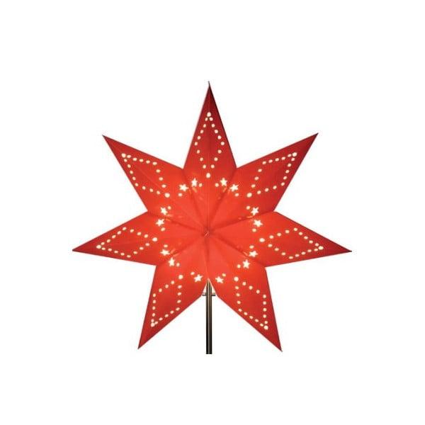 Červená svietiaca hviezda bez kábla Best Season Katabo Paper, 43 cm
