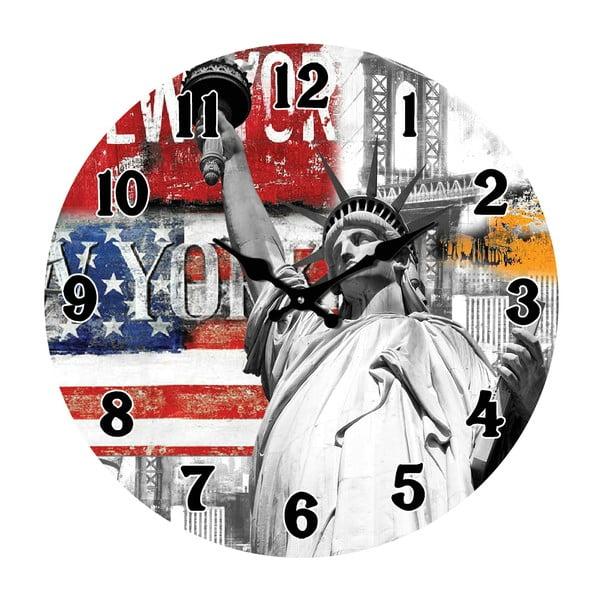 Sklenené hodiny V New Yorku, 34 cm