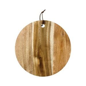 Servírovacia doštička z dreva akácie Ladelle, ⌀ 30 cm