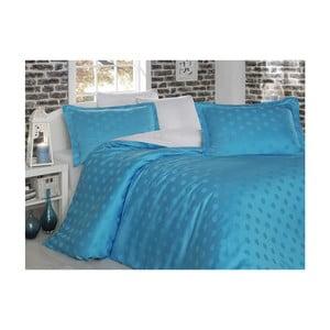 Modré obliečky s plachtou na dvojlôžko Puan, 200 x 220 cm