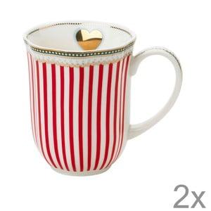 Porcelánový hrnček na kávu Holiday od Lisbeth Dahl, 2 ks
