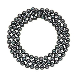 Náhrdelník s antracitovo čiernymi perlami ⌀ 8 mm Perldesse Muschel, dĺžka 90 cm