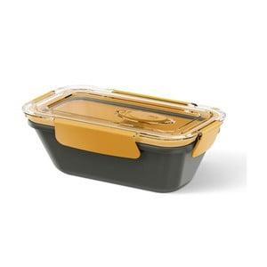 Krabička na potraviny Rectangular Black/Orange, 0,5 l