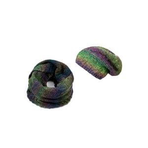 Čiapka so šálom Green and Violet