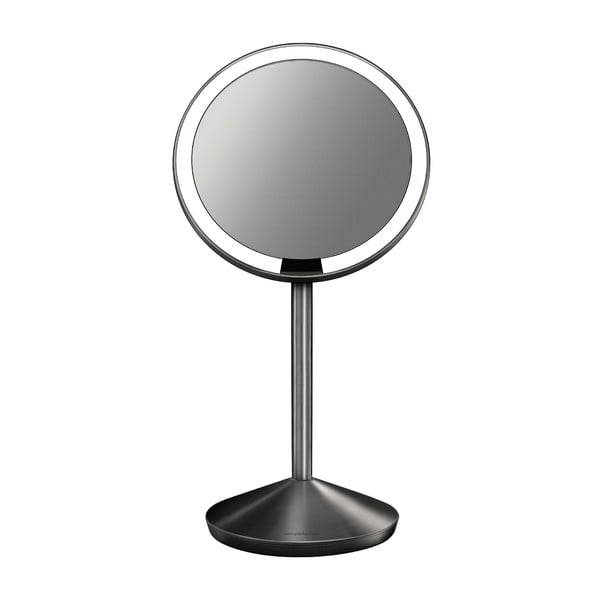 Čierne kozmetické zrkadielko s osvetlením simplehuman Sensor