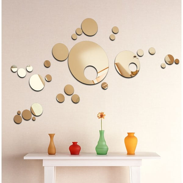 Dekoratívne zrkadlo Retro bubliny