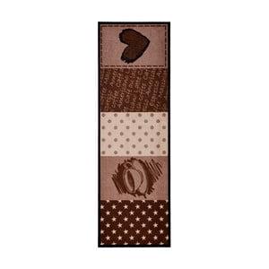 Hnedý kuchynský koberec Hanse Home Coffee Heart, 50x150cm