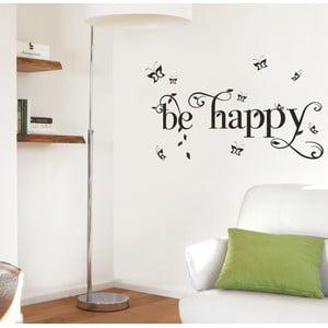Dekoratívna samolepka Eurographics Be Happy