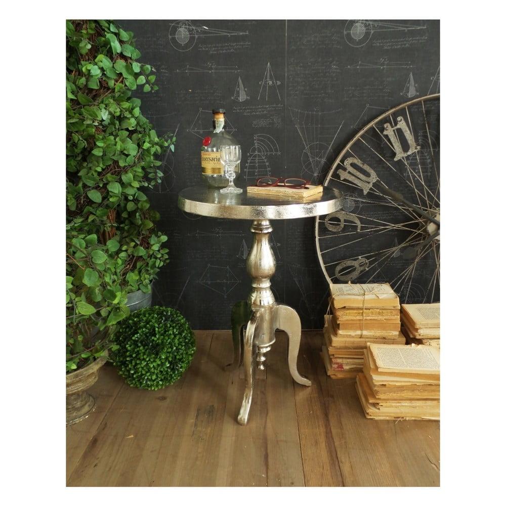 Kovový odkladací stolík Orchidea Milano Old Little, ⌀ 40 cm
