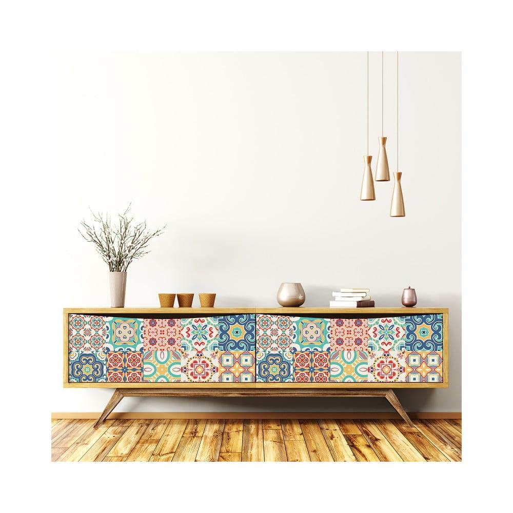 Sada 30 samolepiek na nábytok Ambiance Tiles Stickers For Furniture Celistino, 20 × 20 cm
