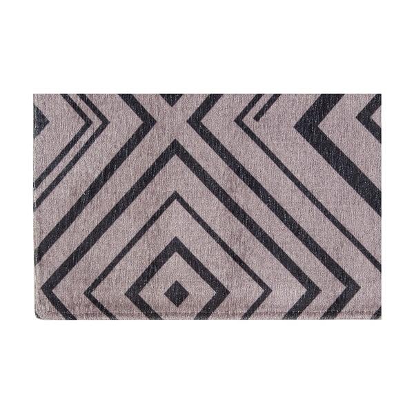 Vysokoodolný kuchynský koberec Hellenic Grey, 60x220 cm