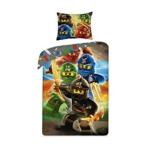 Detské bavlnené obliečky Halantex Lego Ninjago, 140 x 200 cm