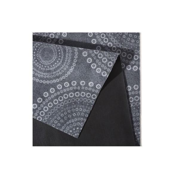 Sivý kuchynský koberec Hanse Home Flower Dots, 50x150cm