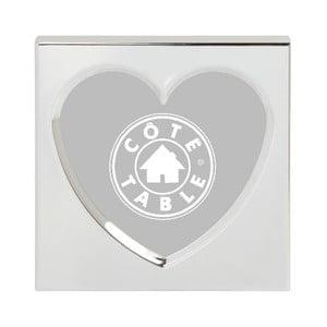 Fotorámček Heart Nickel, 11x11 cm