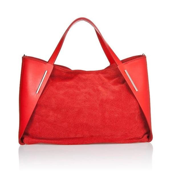 Kožená kabelka Matt Red