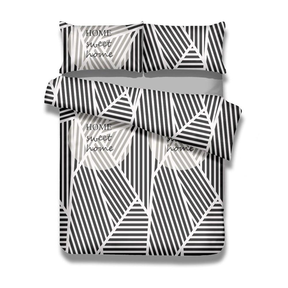 Sada bavlnenej obliečky na perinu a 2 obliečok na vankúše AmeliaHome Averi Sweet Home Light, 240 × 260 cm + 63 × 63 cm