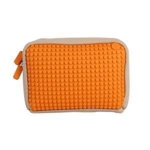 Pixelová taštička, beige/orange