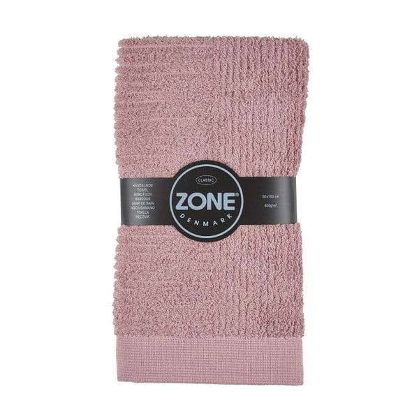 Ružový uterák Zone, 100x50cm