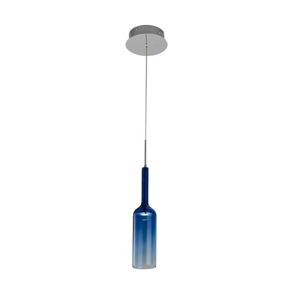 Modré stropné svietidlo Bottle Blue