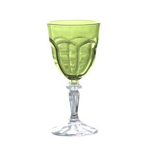 Sada 6 zelených plastových pohárov na víno Sunvibes Happy, 250 ml
