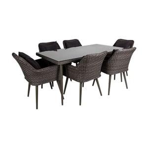 Sada 6 vonkajších stoličiek a stola Crido Consulting Crudo