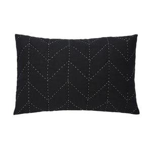 Čierna prešívaná obliečka na vankúš A Simple Mess Molly, 60×40cm