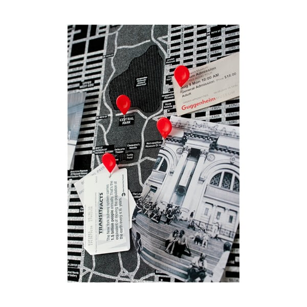 Čierna nástenná mapa sveta Palomar Pin World, 126 x 68cm
