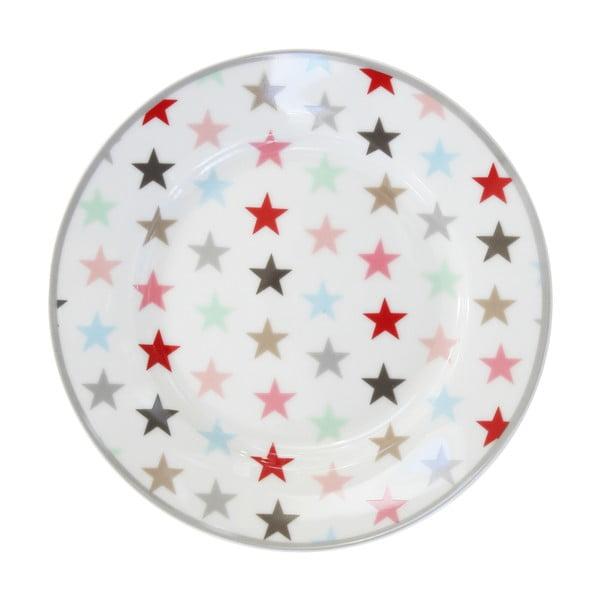 Dezertný tanier Krasilnikoff Multi White