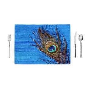 Prestieranie Home de Bleu Tropical Peacock, 35 x 49 cm