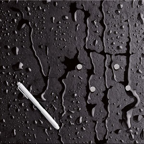 Magnetická tabuľa Black Rain, 30 x 30 cm