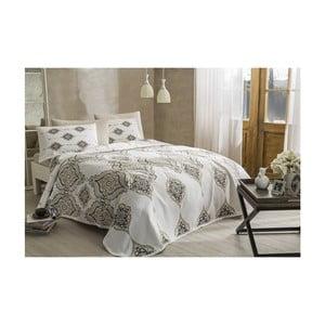 Set bavlnenej prikrývky, plachty a 2 obliečok na vankúše Penelope Cream, 200 × 230 cm