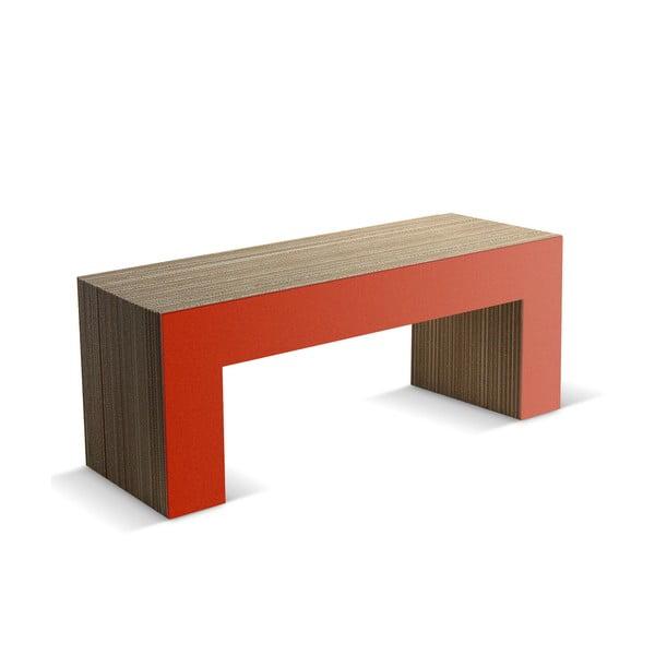 Kartónová lavica Panca Red, 120 cm