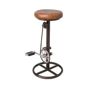 Barová stolička s poťahom z kože Antic Line Cycliste, ø 38 cm