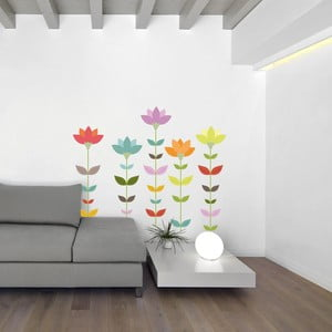 Samolepka na stenu Minimal Flowers