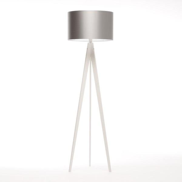 Stojacia lampa Artist Silver/White Birch, 125x42 cm
