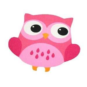 Koberec Owls - ružová sova, 66x66 cm
