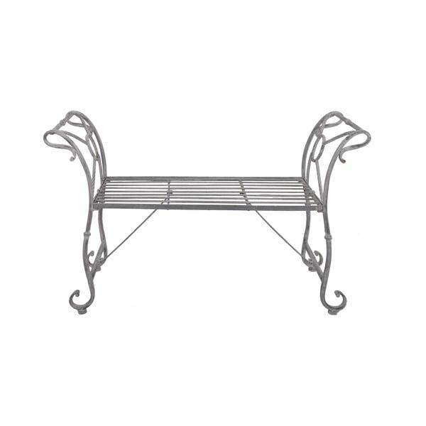 Lavica Metal Grey, 110 cm