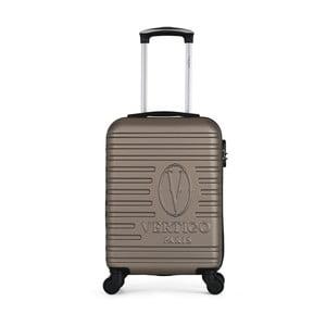 Hnedobéžový cestovný kufor na kolieskach VERTIGO Valises Cabine Cadenas