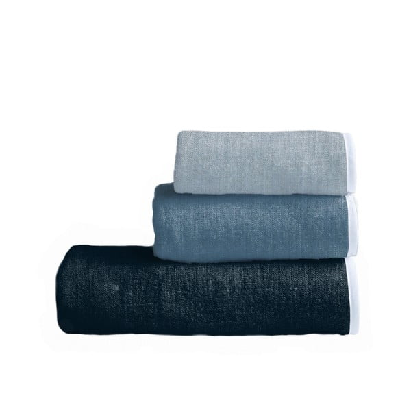 Sada 3 uterákov Linen Couture Toalla Blue Gardient