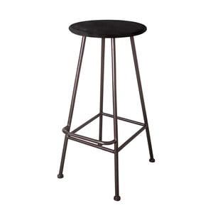 Barová stolička Antic Line Repose Noir, ø 35,5 cm