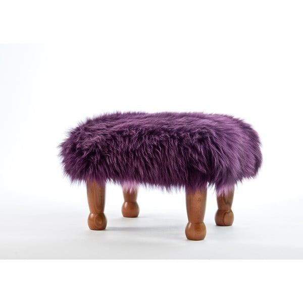 Stolička z ovčej kože Anwen Aubergine