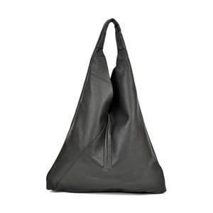 Čierna kožená kabelka Anna Luchini Hasico