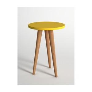 Žltý odkladací stolík Monte Roma