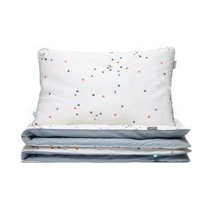 Sivo-biele detské bavlnené posteľné obliečky Mumla Confetti, 90×120 cm