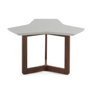 Sivý odkladací stolík s tmavými nohami La Forma Triangle