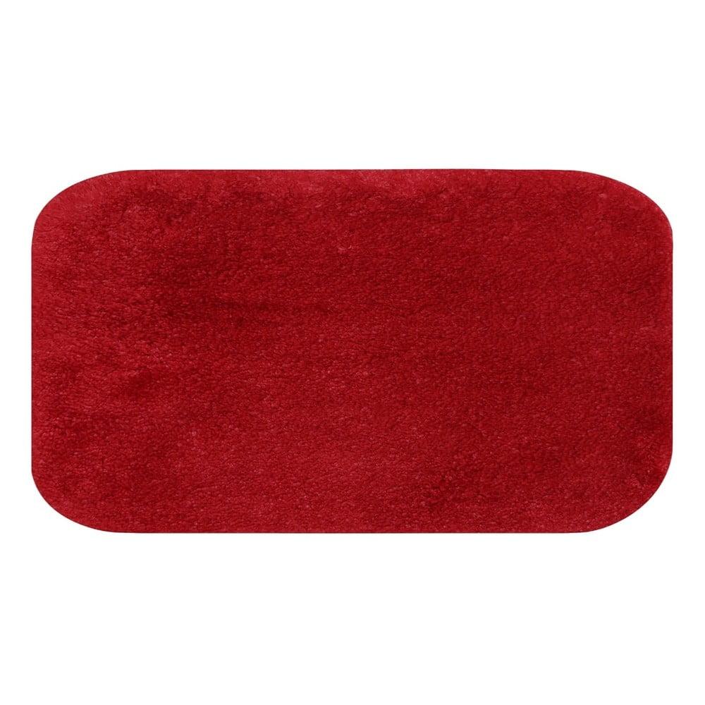 Červená predložka do kúpeľne Confetti Miami, 80 × 140 cm