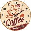 Sklenené hodiny Endless Cup, 34 cm