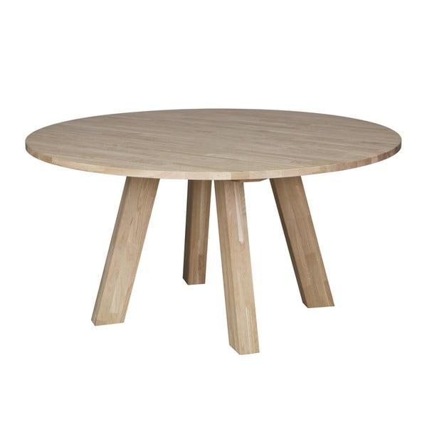 Jedálenský stôl z dubového dreva WOOOD Rhonda, Ø 150cm